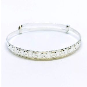 Jewelry - 14K White Gold on .990 Sterling Silver Bangle